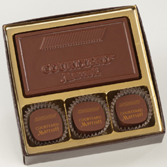 3 Pc Truffle Box with Logo Bar