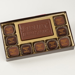 9 Pc Truffle Box with Logo Bar
