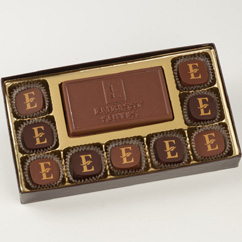 9 Pc Truffle Box with Logo Bar