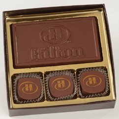 3 Pc Truffle Box with Logo Bar