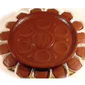 Passover Seder Plate with Chocolate Covered Matzon