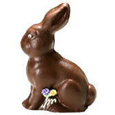 7 in. Sitting Bunny - 3D Hollow