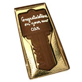Chocolate Key with Custom Message