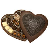 Extra Large Chocolate Heart Box filled with Assorted Chocolates