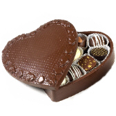 Large Chocolate Heart Box with Assorted Chocolates
