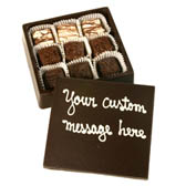Edible Chocolate Box filled with 9 Truffles and Custom Message