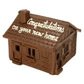 3-D Hollow Chocolate House with Custom Message
