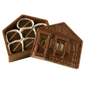 Chocolate House Box filled with Assorted Chocolates