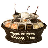 Medium Edible Chocolate Basket with Assorted Chocolates
