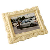 Large Chocolate Frame with Edible Rice Paper Picture