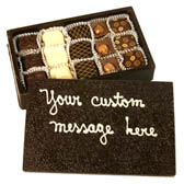 Medium Chocolate Box filled with 15 Truffles and Custom Message