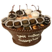 Large Edible Chocolate Basket with Assorted Chocolates
