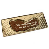 Chocolate Foot with Custom Message