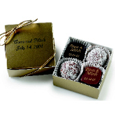 4-pc Truffle Box with Custom Message