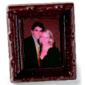 Small Chocolate Picture Frame with Edible Rice Paper Picture