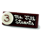 Small Place Card - Hand Written with Chocolate