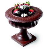 Chocolate Bowl Centerpiece filled with Assorted Chocolates or Strawberries