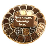Small Wicker Basket filled with Chocolates and a Message Card