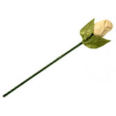 Single 3-D Chocolate Rose - Available in Assorted Colors