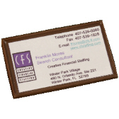 Business Card Logo - Rice Paper (3.5 in. x 2.0 in.)